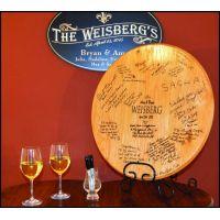 Wedding Signature Barrel Head w/ Iron Stand