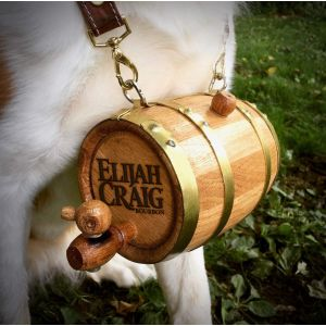 Saint Bernard Barrel w/Leather Collar