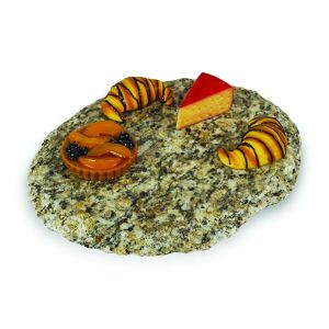 Granite Lazy Susan Serving Tray