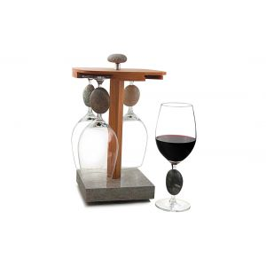 Four Touchstone Wine Glasses w/ Pirouette Holder